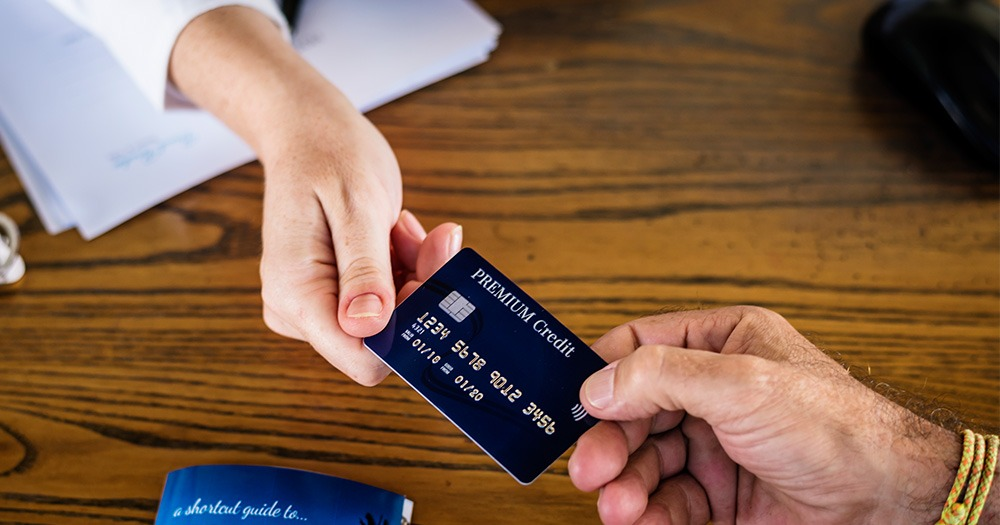 Exchanging a credit card