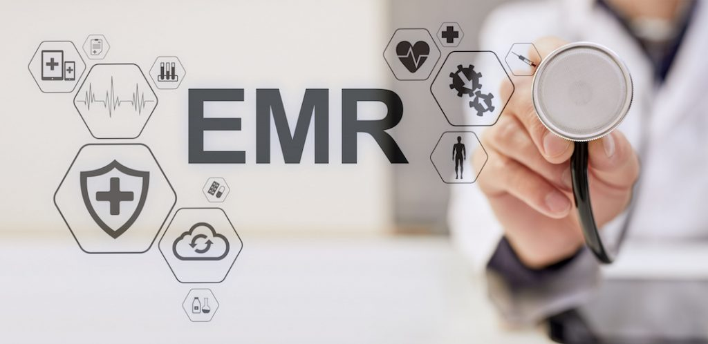 EMR Electronic Medical Records with a stethescope